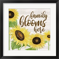 Fall Sunflower Sentiment I-Family Framed Print