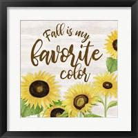 Fall Sunflower Sentiment II-Favorite Framed Print