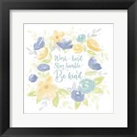 Framed Kellys Garden II-Be Humble