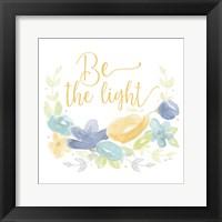Framed Kellys Garden IV-Be the Light