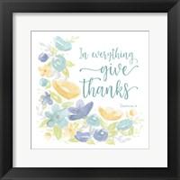 Framed Kellys Garden V-Give Thanks