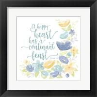 Framed Kellys Garden VII-Happy Heart