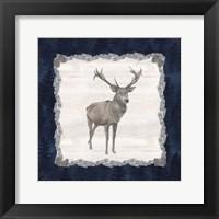 Framed Blue Cliff Mountains II-Deer