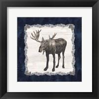 Framed Blue Cliff Mountains IV-Moose