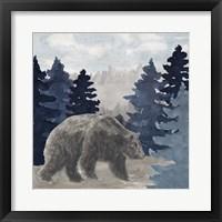 Framed Blue Cliff Mountains scene I-Bear