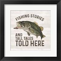 Framed Less Talk More Fishing I-Tall Tales