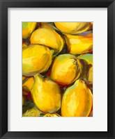 Framed Fresh Lemons
