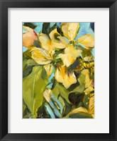 Framed Golden Floral