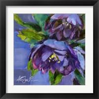Framed Purple Florals
