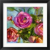 Framed Roses Still Life III
