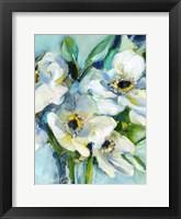Framed White Floral Still Life