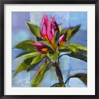 Framed Tropical Floral Watercolor