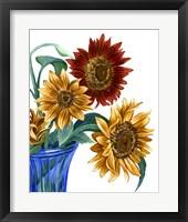 Framed China Sunflowers I