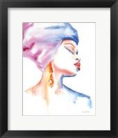 Framed Woman in Purple