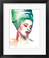 Framed Woman in Green