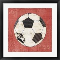 Play Ball III Red Framed Print