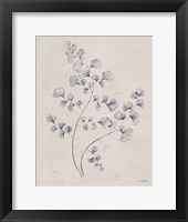 Soft Summer Sketches IV Navy Framed Print