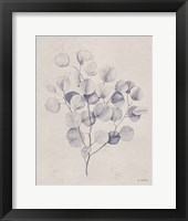 Soft Summer Sketches II Navy Framed Print