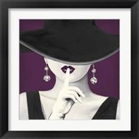 Framed Haute Chapeau Purple I v2
