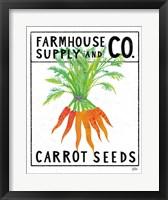 Framed Kitchen Garden Seed Packet IV