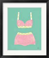 Framed Bathing Beauties III Pastel