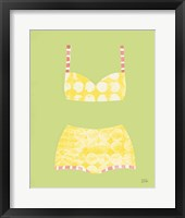Bathing Beauties I Pastel Framed Print