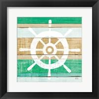 Framed Beachscape VI Helm Green