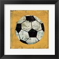 Ball IV Yellow Framed Print