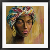 Framed African Face I