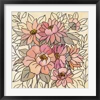 Spring Lace Floral II Framed Print