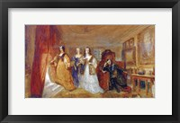 Framed Lucy, Countess of Carlisle, and Dorothy Percys Visit to their Father Lord Percy, c1831