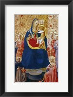 Framed Madonna and Child with Saints, Mid 15th Century