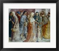 Framed St Stephen Distributing Alms, Mid 15th Century