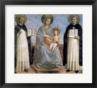 Framed Virgin and Child with St Anthony of Padua and St Thomas Aquinas, early 15th Century
