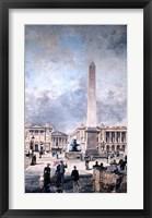 Framed Obelisk of Luxor and the Place de la Concorde, 1891