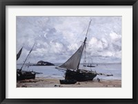 Framed Beached Boats at St Jean, 1884