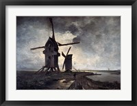Framed Windmills of the Surrounding Landscape of Lille, 1877