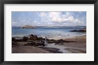 Framed Womans Bathing Beach, 1876