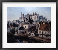 Framed Port of Cordelieres and Castle Loches, 1891