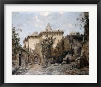 Framed Door of Cordelieres and the Castle, 1891
