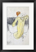 Framed Red-headed Woman in the Bathroom