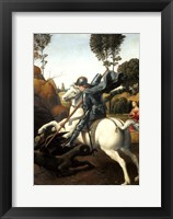 Framed Saint George and the Dragon, c1506