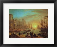 Framed Seaport at Sunset, 1639