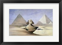 Framed Great Sphinx and Pyramids at Giza, 1838-1839