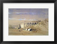 Framed Lateral View of the Temple called Typhonaeum at Dendera, Egypt, 19th century