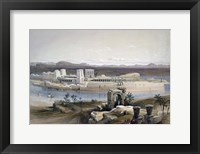 Framed General View of the Island of Philae, Nubia, 1838