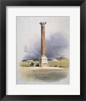 Framed Pompeys Pillar, Alexandria, 19th century