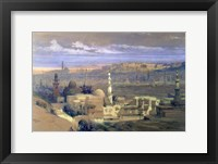 Framed Cairo from the Gate of Citizenib, 19th century