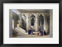 Framed Interior of the Temple at Esna, Upper Egypt, 1838