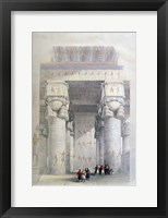 Framed Portico of the Temple of Dendera, 19th century